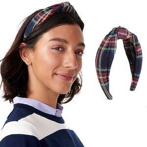 J. Crew Holiday Tartan Plaid Turban Knot Headband